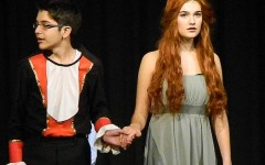 """Prince Eric (Hakeem Alhady) and Ariel (Amelia Allison) live happily ever after at the end of the Watertown Middle School production of """"The Little Mermaid"""" on Dec. 5, 2013."""