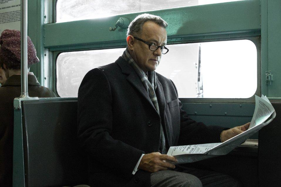 Tom Hanks plays James Donovan in Steven Spielberg's new Cold War movie