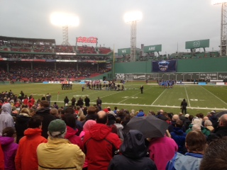 Galway and Dublin played a hurling match at Fenway Park on Sunday, Nov. 22, 2015.