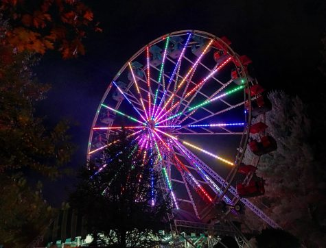 The Ferris Wheel and most other rides are still up and running during Screemfest.