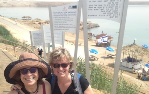 Kerri Lorigan (right) and her mother-in-law, Lynn Nadeau, at the Dead Sea.