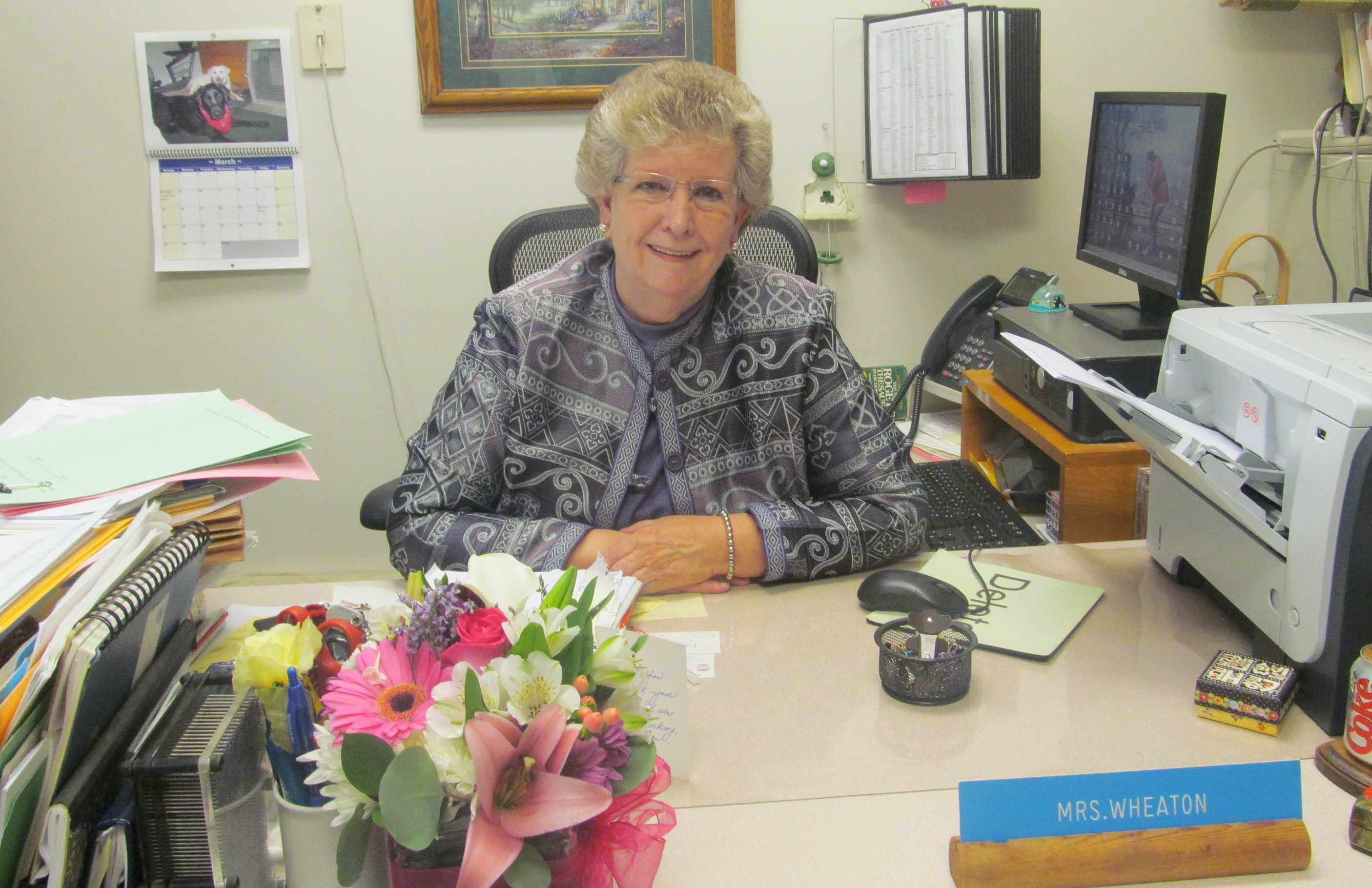 Judy Wheaton, known to thousands of students as the voice of Watertown Middle School, is retiring this June.