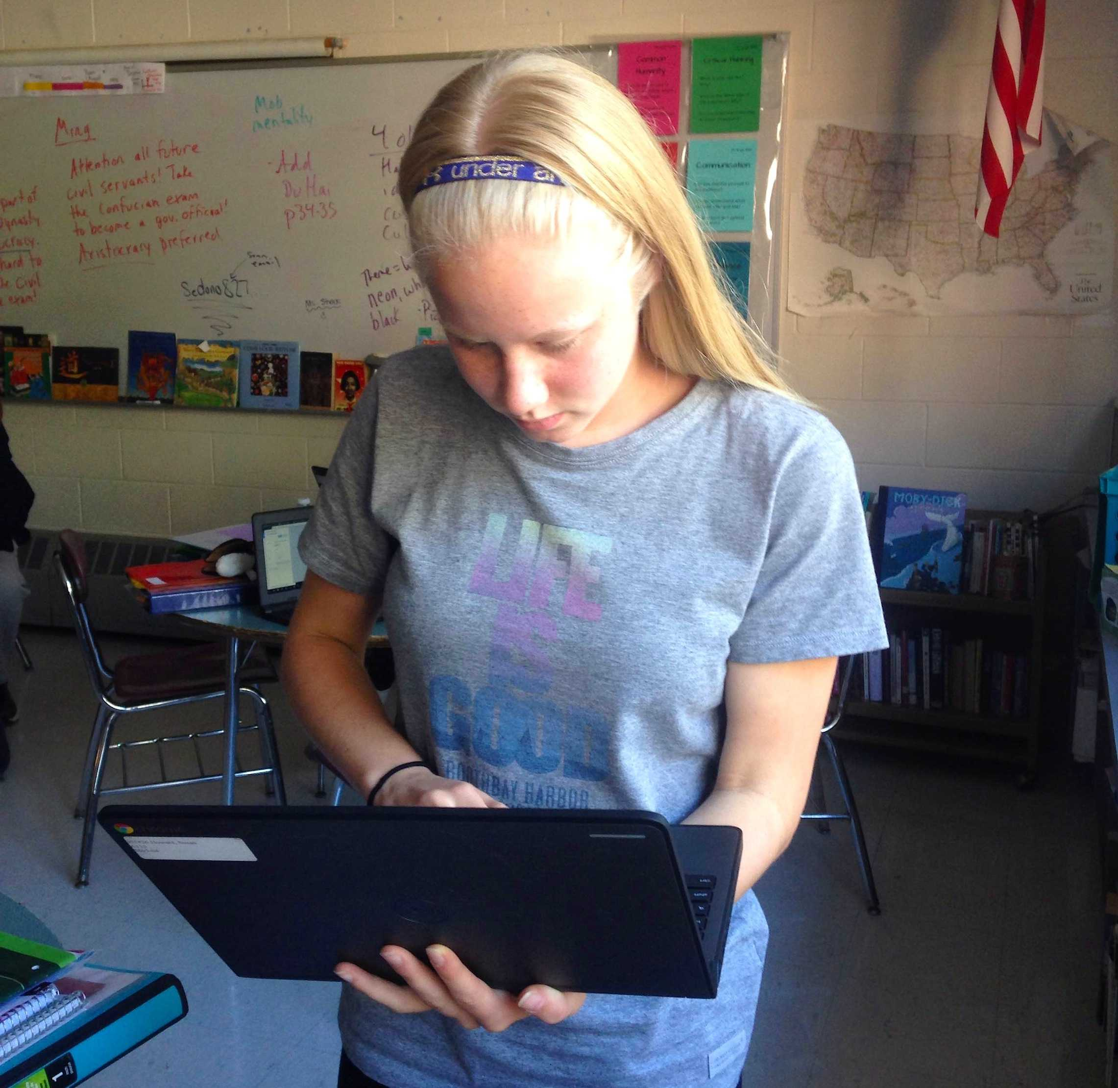 All eighth-graders at Watertown Middle School have a Chromebook to call their own this year.