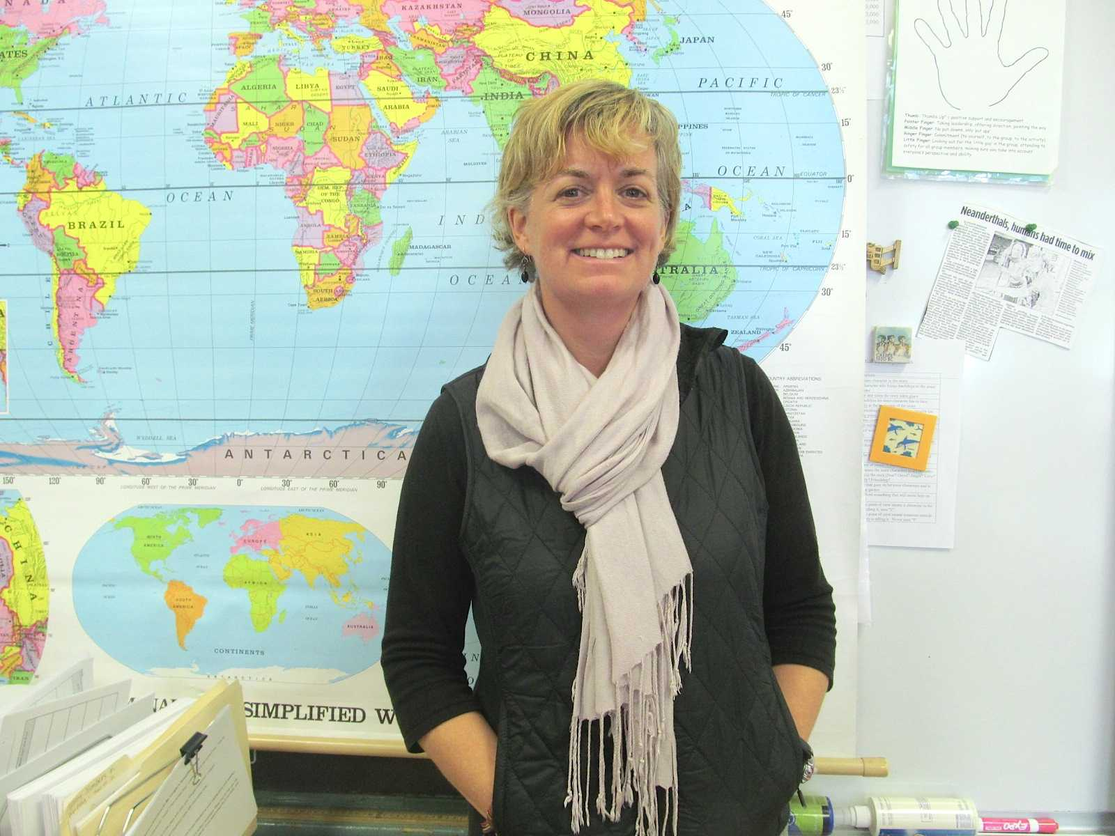 Watertown Middle School teacher Kerri Lorigan spent six months at the start of 2015 traveling the world with her family.