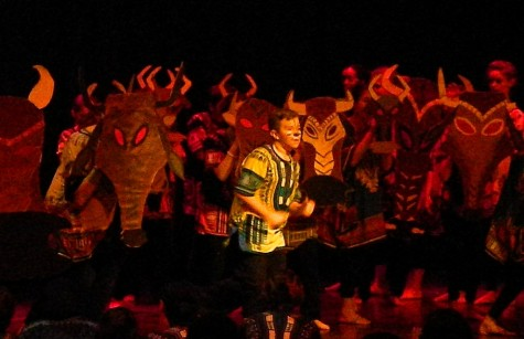 "A scene from the Watertown Middle School production of Disney's ""The Lion King, Jr"" which will be performed March 2, 3, and 4, 2016. The pre-show starts at 6:30 p.m. with an African drum ensemble and dancing. and the curtain rising at 7 p.m. Tickets are available at the door: $7 adults, $5 students and seniors."