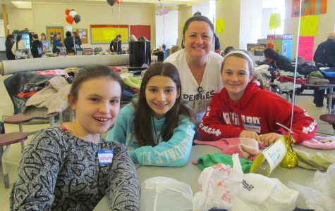 Math teacher Jane Evans (second from right) organized the 2016 rummage sale at Watertown Middle School, one of the many successful events as part of the Pennies for Patients fund-raiser to help the Leukemia and Lymphoma Society fight blood cancer.