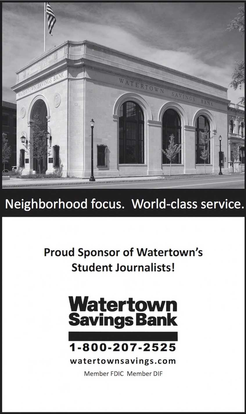 Watertown Savings Bank ad