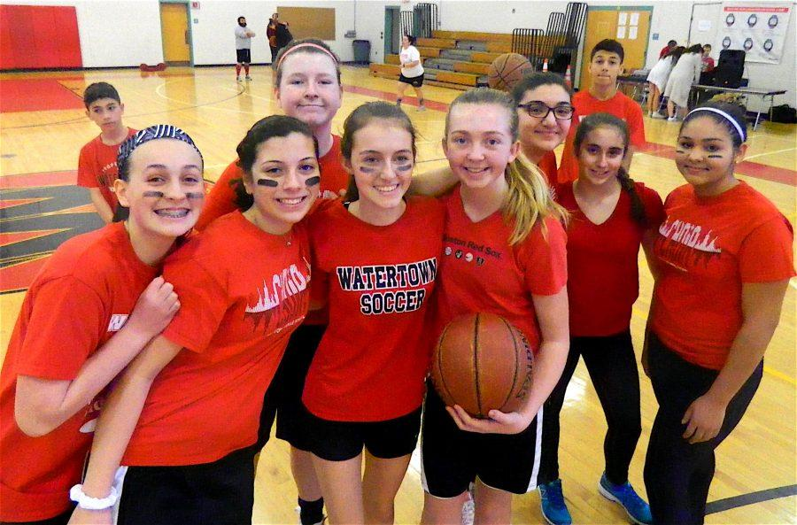 The year's first student-faculty basketball game at Watertown Middle School was played Feb. 17, 2017.