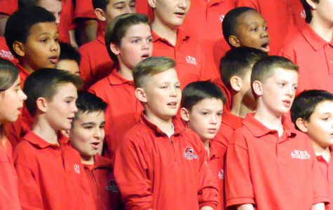 Members of the Watertown Middle School chorus sing during the 2016 Winter Concert.