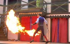 Jacques Ze Whippeur and his flaming whip are one of the many shows to be found at King Richard's Faire in Carver, Mass., through Oct. 22, 2017.