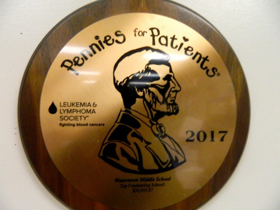 Watertown Middle School raised $36,015.87 for Pennies for Patients in 2017, the fifth-highest amount in the country.