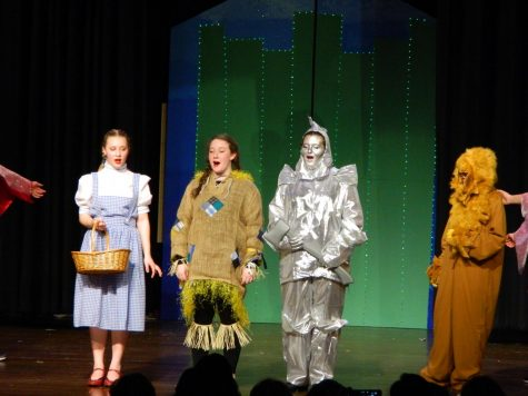 "Scenes from the March 1, 2018, evening performance of ""The Wizard of Oz"" at Watertown Middle School -- one of four performances over two days of the full Broadway musical, complete with twisters, scarecrows, jitterbugs, balloons to Kansas, and one Great and Powerful Oz."