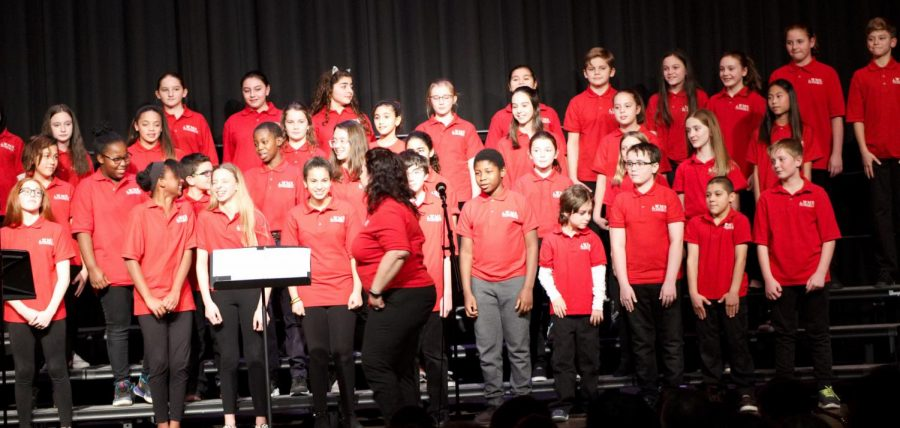 A scene from the Winter Concert at Watertown Middle School on Dec. 11, 2018.