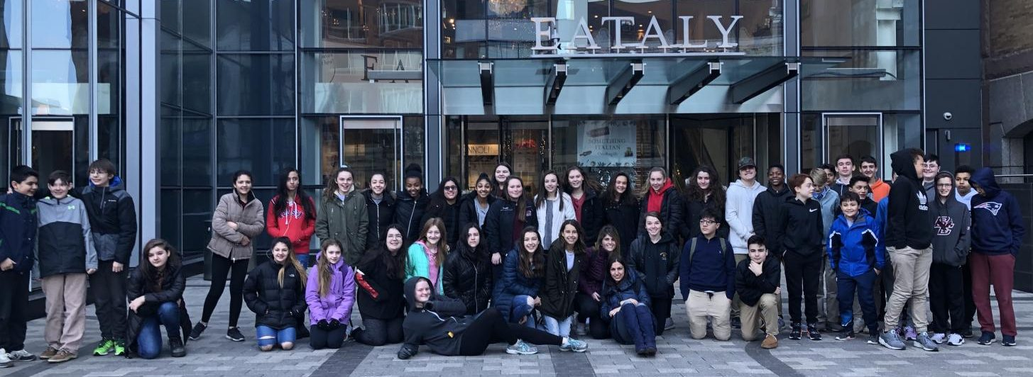 Angela Kuzemczak's Italian language students from Watertown Middle School explored Eataly in Boston's Prudential Center in December 2018.