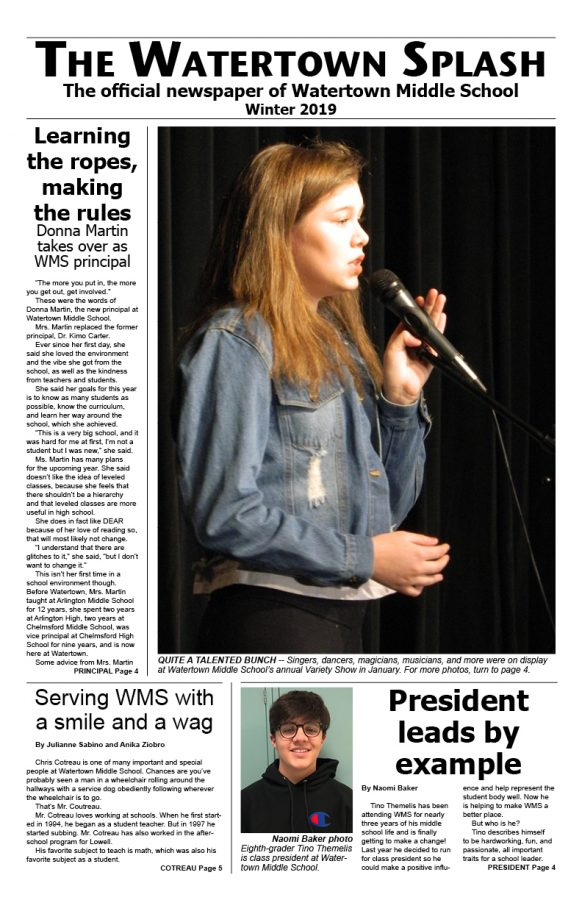 Watertown Splash print edition -- January 2019