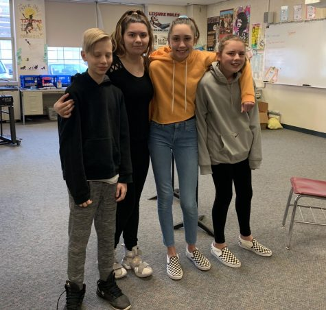 "In the upcoming production of ""Once Upon This Island Jr."" at Watertown Middle School, the island gods will be played by (from left) Lucas Nitschke (Papa Ge), Adrina D'Arrigo (Agwe), Emma Griffith (Erzulie), and Casey Master (Asaka)."